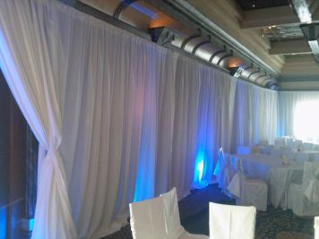 pipe and drape event production