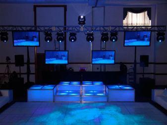 LED stage decks, lighting, video screen rentals