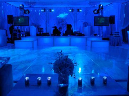 LED stage, dance floor, event lighting
