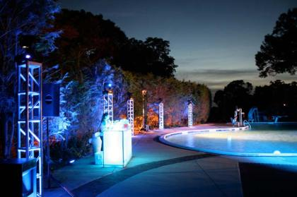 out door event production truss lighting