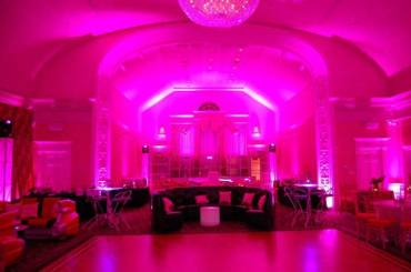 pink mitvah lighting
