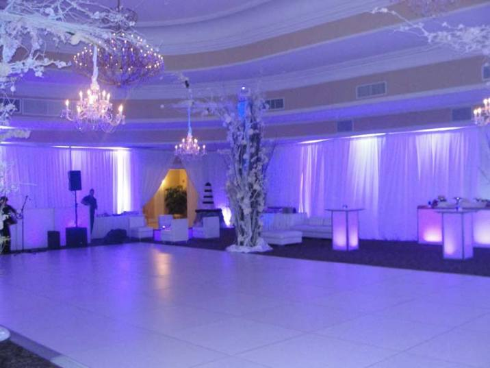 event production winter wedding