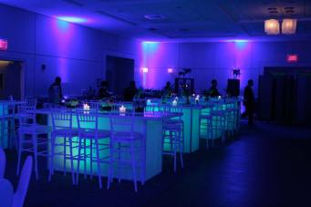 community tables for mitzvah event