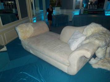 chaise lounge decor for mitzvah