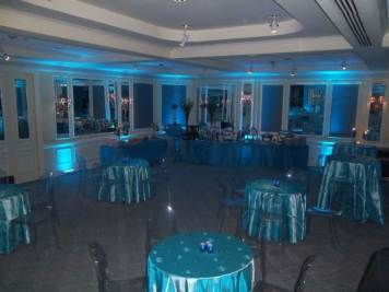 tables and chairs, linens for mitzvah event