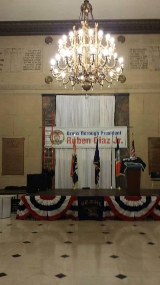 podium for political event