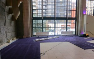 Custom-laid-carpet-for-bat-mitzvah