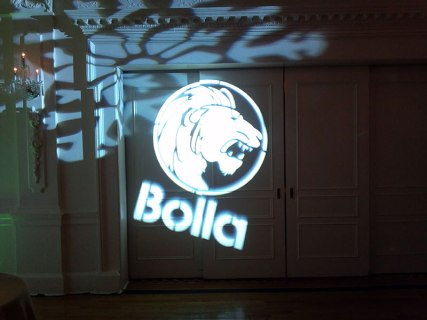 Logo-projected-on-wall