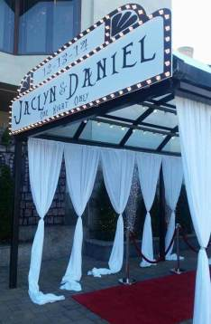Custom Marquee and draping for wedding entrance