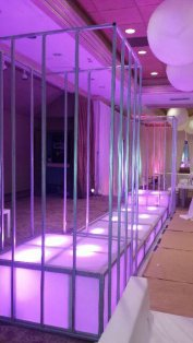 Metal-dance-cage-around-LED-Stage-Decks