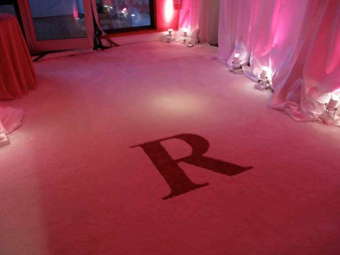 Monogrammed-Carpet-for-entry-into-event