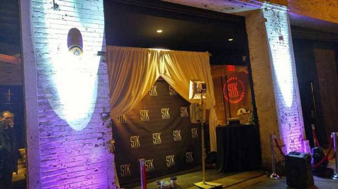 STK Step and repeat banner with drapes