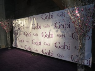Step n repeat banner for bat mitzvah