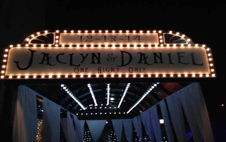 Custom Lighted Marquee for Storybook Wedding
