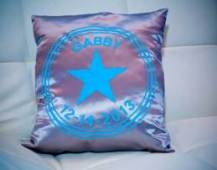 Personalized silk pillows for events