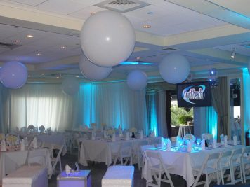 White-orbs-on-ceiling-of-catered-event