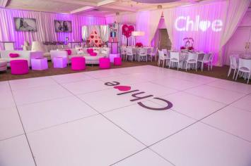bat-mitzvah-white-portable-dance-floor-rentals-with-name-logo-sticker