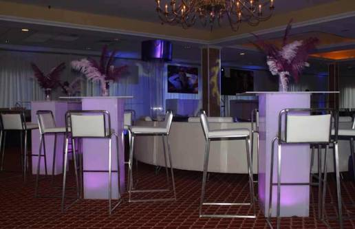 illuminated-furniture-with-feather-centerpieces