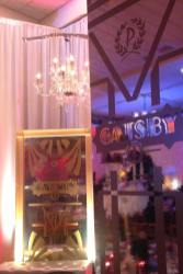 Gatsby-Event-Production-Mirrored-Column-and-Guilded-Mirror-with-Gatsby-Logo