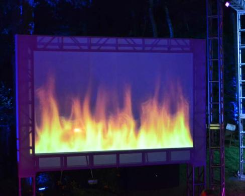 Graduation-Event-Production-Video-Wall-with-Fire