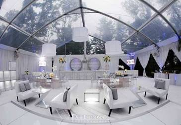 Silver and White Lounge decor