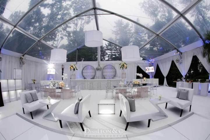 White and Silver theme lounge decor