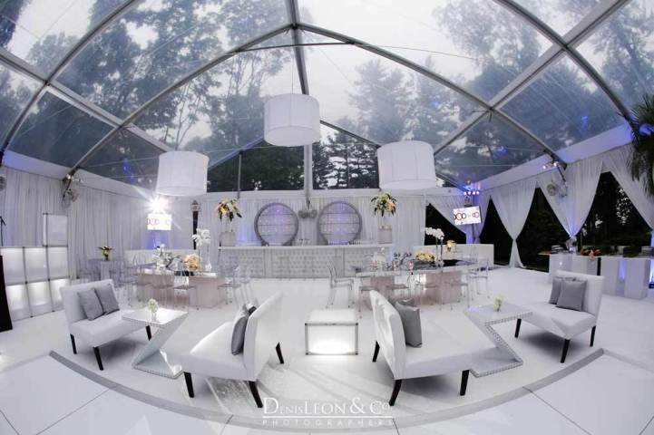 White and Silver theme lounge decor