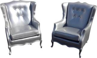 silver tufted chairs