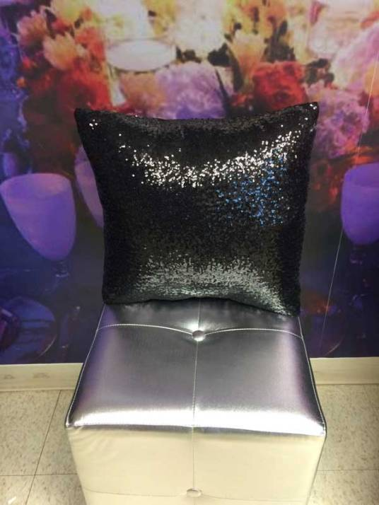 Event-furniture-sparkly-pillow-black
