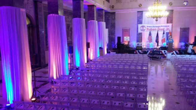 Political-Event-Production-Chairs-Draping