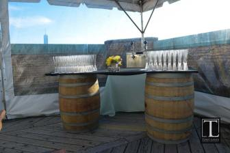 Old-wooden-barrels-with-table-top