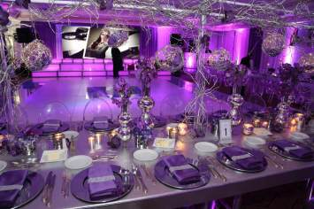 silver-wrapped-table-with-truss-and-wire-ball-decor