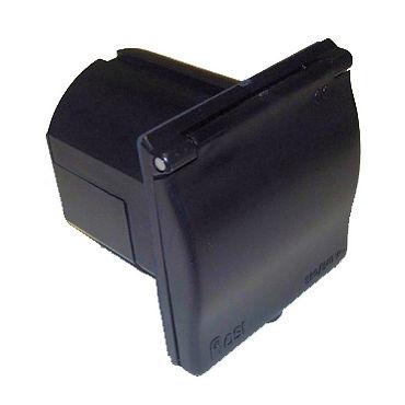 Black Mains Flush Fit Socket