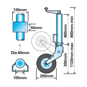 60mm Jockey Folding Wheel Sizes