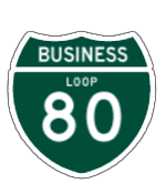 Business Loop 80 sign