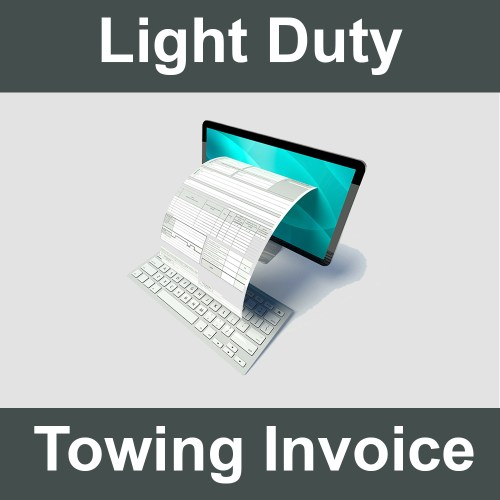 Light Duty Towing Invoice