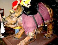 Dino saddle