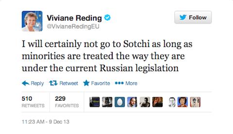 Viviane Reding tweet