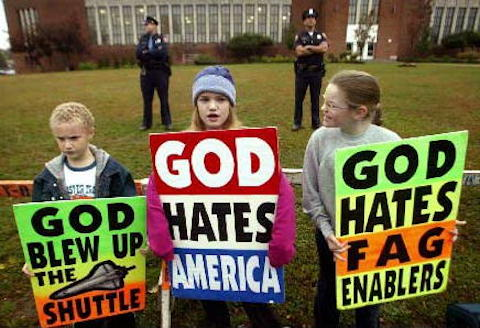 Young Westboro protesters