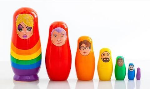 Pride matryoshka dolls