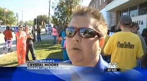 Crystal moore police chief fired for being gay
