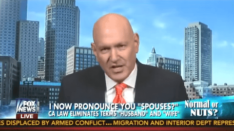 Keith Ablow on California marriage law