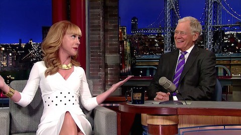 Kathy Griffin and David Letterman