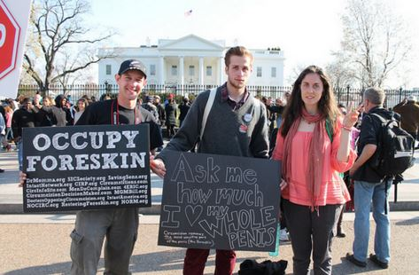 Occupy foreskin