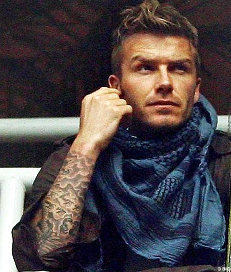 David Beckham Tattoo Symbols - : David Beckham Tattoos.