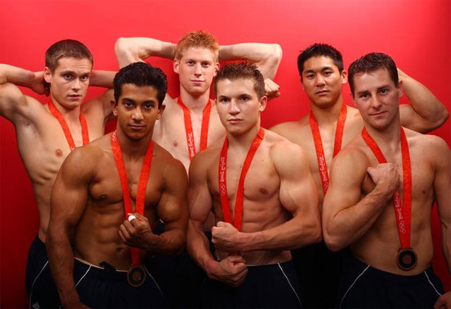 TowelRoads Images of our Medal Winning Gymnastic Team. Flex It, Boys!
