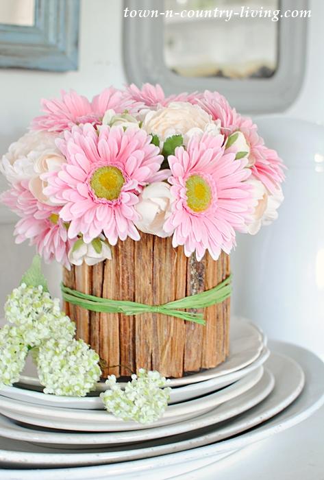 DIY Rustic Flower Vase Town Amp Country Living
