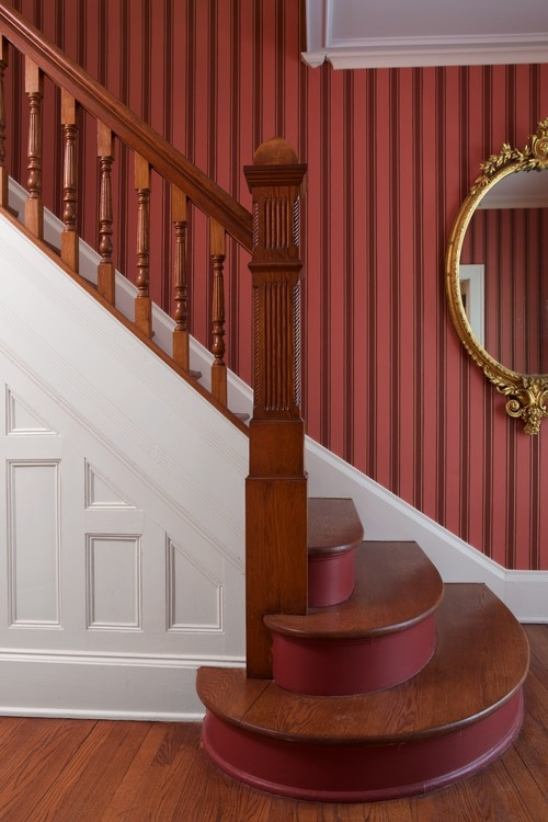 Painted Staircase Ideas And Inspiration Town Country Living | Painted And Stained Stairs | Easy Diy | Two Tone | Espresso Stained | Pinterest | Home