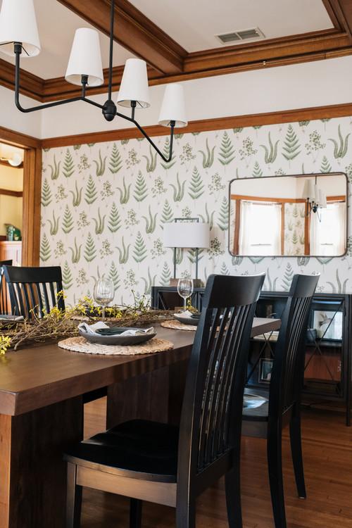 Craftsman Dining Room Wallpaper Week Town Country Living
