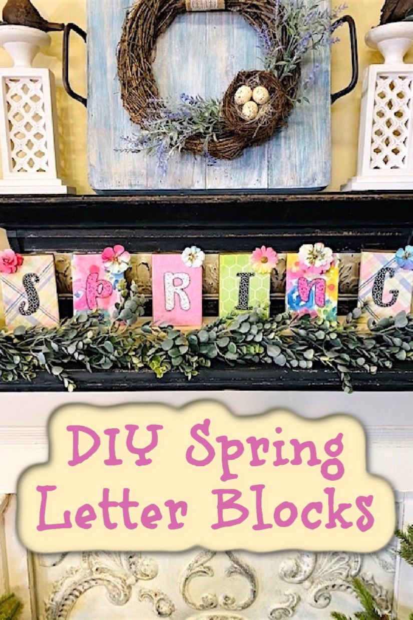 Easter Home Decor, Spring Block Letters